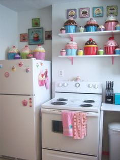 Cupcake kitchen. Too cute! exactly like this so if any of you wanna get me some cupcake stuff for my bday i would gladly appreciate it!!