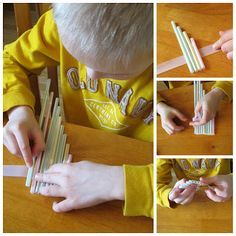 Oooh can you really make a flute from straws? How cute!  (via http://www.redtedart.com/2012/04/18/kids-crafts-flower-cards/)