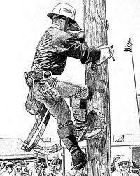 Lineman sketch