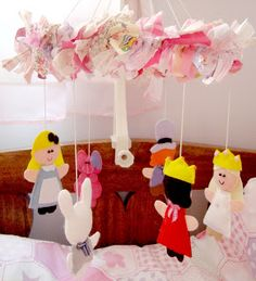 Alice in Wonderland Baby Crib Mobile