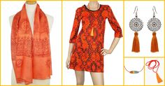 Retrouvez notre sélection couleur du moment en orange  www.refletsindiens.com