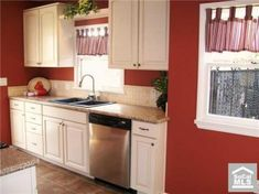 Before After A Der S House Gets Fresh Start Beige Cabinetswhite Kitchen Cabinetsred Wallskitchen