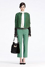 need this look!! greens for fall are gorge <3 Gabriel Pant