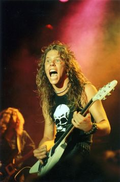 A Really REALLY Young James Hetfield of Metallica