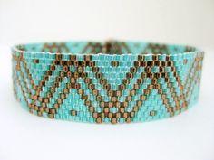 Peyote Pattern - Dots and Lines - INSTANT DOWNLOAD PDF - Peyote Stitch Bracelet Pattern