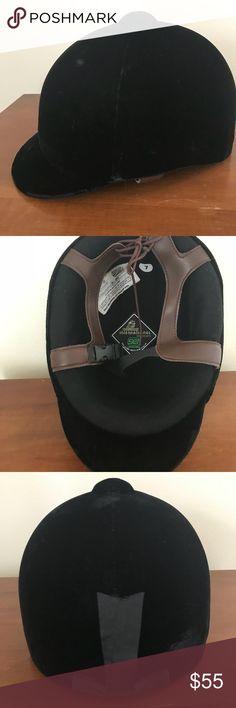 International Horseback Riding Helmet 7 Velvet International riding helmet. Black velvet. Size 7. Model 1072-13 . Great condition. international Accessories Hats