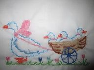Baby cot sheet, that I made for a cutee lil baby boy! :D (my first attempt with the removable cross stitch material)