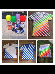Why tie dye when you can spray paint? DIY T-shirts