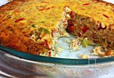 Tonhalas-feta sajtos pite Lasagna, Quiche, Feta, Main Dishes, Bacon, Veggies, Pie, Breakfast, Ethnic Recipes