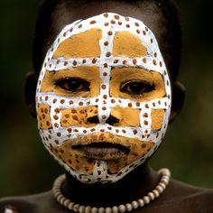 Surma girl, Oromo valley Ethiopia