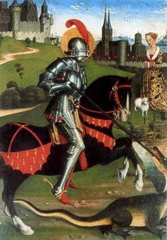 knight slaying dragon   Many accounts of dragons and encounters with dragons are recorded in ...