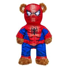 Dress your furry friend like your favorite Marvel Characters with Marvel stuffed animal clothing from Build-A-Bear® Workshop! Teddy Bear Clothes, Pet Clothes, Spiderman, Custom Teddy Bear, Captain America Costume, Homemade Halloween Decorations, Spider Costume, Build A Bear, Animal Quotes