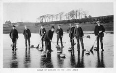 Curling on the Loch, Lenzie, East Dunbartonshire 1910