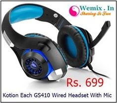 Kotion Each GS410 Wired Headset With Mic Rs 699