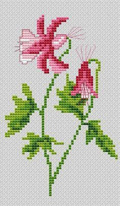 Author Lydie Sachse – Flowers and other / Flowers / Freebies –. Christmas Cross Stitch Alphabet, Cross Stitch Letters, Mini Cross Stitch, Cross Stitch Rose, Cross Stitch Samplers, Cross Stitch Flowers, Cross Stitches, Cross Stitch Gallery, Cross Stitch Designs