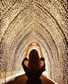 """""""The thing is it's not about the light at the end of the tunnel; focus on the journey friends not the destination."""" ---  From last night at @vividsydney with @jadebuyslemons. I was most excited to see this stunning light dome at the festival and it surely doesn't disappoint.  wearing @outwithaudrey  Add me on snapchat for last night's Vivid antics  tara_milktea by taramilktea"""