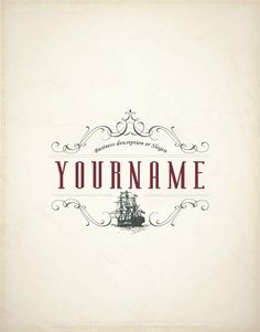 Exclusive Logo Design: Pirate ship Logo FREE Business Card