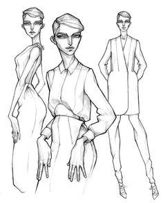 #zejak #milanzejak #tb #2014 #illustration #fashionillustration #design #fashiondesign #drawing #handdrawing #sketches #fashionsketches #fashion #dress #shirt #skirt #coat #pixiecut #androgynous #minimal #blackandwhite #pencil #art #behance...