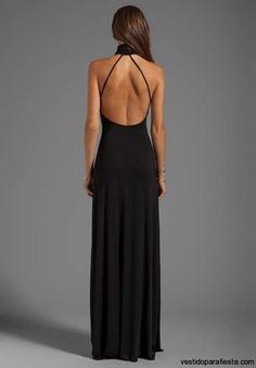 I➨Elegantes y modernos vestidos largos de fiesta con escote en la espalda - 16