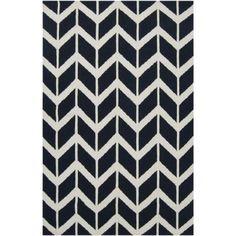 Jill Rosenwald Fallon Arrowhead Rug, Midnight Blue // Lulu and Georgia // rugs