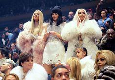 Le clan Kardashian-Jenner au défilé Yeezy Season 3