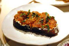 ABC Kitchen - Roasted Kabocha Squash Toast fresh ricotta and apple cider vinegar