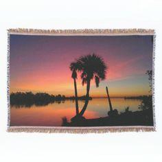 Gorgeous Ocean Sunset Throw Blanket