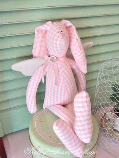 Cute gingham angel bunny!