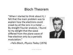 On The Bloch Theorem and Orthogonality Relations