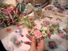 SOURCE FOR INSTRUCTION RIBBON ▶ How to make French ribbonwork silk flowers…