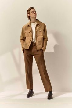Sandro Spring 2020 Menswear Fashion Show - Vogue Harrington Jacket, Mens Fashion Shoes, Fashion Outfits, Vintage Fashion Men, Indie Fashion Men, Fashion Menswear, Fashion Styles, Fashion Trends, Grunge Outfits