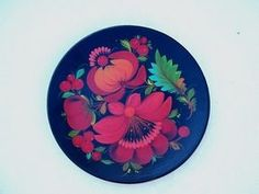Painted plates look beautiful on the wall.
