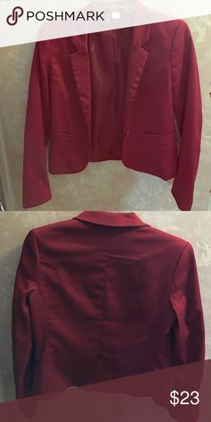 Red Blazer Fitted Red blazer from H&M only worn once. Button in front. Selling only because it's too small on me. H&M Jackets & Coats Blazers