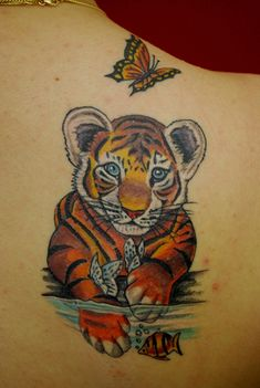 Cute Tiger Tattoos For Women