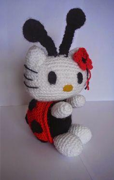 Kitty Mariquita Amigurumi : Hello Kitty mariquita amigurumi #hello kitty #amigurumi # ...