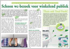 Horecaondernemers bieden winkelend publiek gegarandeerd schone toiletten! Deze halve pagina tabloidformaat is geplaatst in 2008.