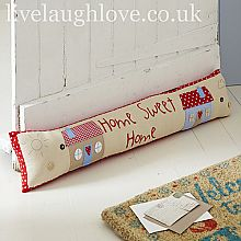 "Brights ""Home Sweet Home"" Padded Draft Excluder"