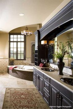 Master bathroom we love - with a great view.