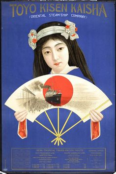 Oriental Steamship Company poster, Japan