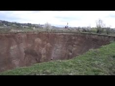 Spectacular 60 Meter Sinkhole Swallows Seven Homes