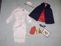 Vintage Barbie #991 REGISTERED NURSE COMPLETE! 1961-64 All 10 Pieces & AUTHENTIC