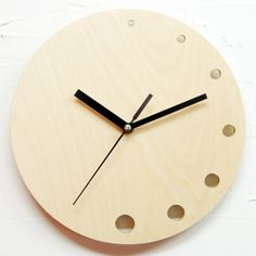 Birch tree clock   [텐바이텐] [무소음]자작나무 벽시계 NC09