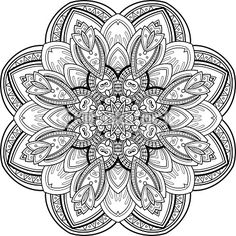 Vector Art : Vector Beautiful Deco Black Mandala