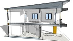 Small Home Design Plan with 3 Bedrooms - SamPhoas Plan Simple House Design, Dream Home Design, Home Design Plans, Tiny House Exterior, Small Floor Plans, Townhouse Designs, Diy Dollhouse, Home Projects, My House