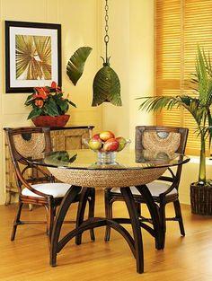 Coastal dining room design ideas.