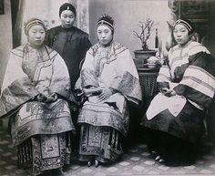 1880s年香港,130年前香港富家妻妾面貌。