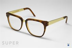 Super People Havana/ Gold Metal Clear | FREE Shipping Offer On All Items $100 and Above In The USA