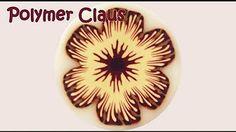 (8) Murrina flor fucsia y violeta en arcilla polimérica - Polymer clay fuchsia cane - YouTube