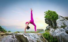 Download wallpapers yoga, woman, sunset, meditation, yoga poses, yoga exercises, health concepts