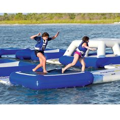 The Floating Obstacle Course - Hammacher Schlemmer
